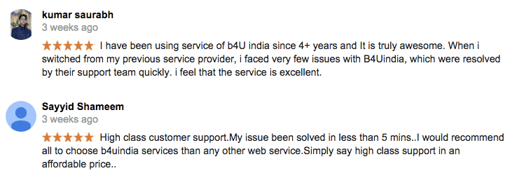 Customer Reviews B4UIndia
