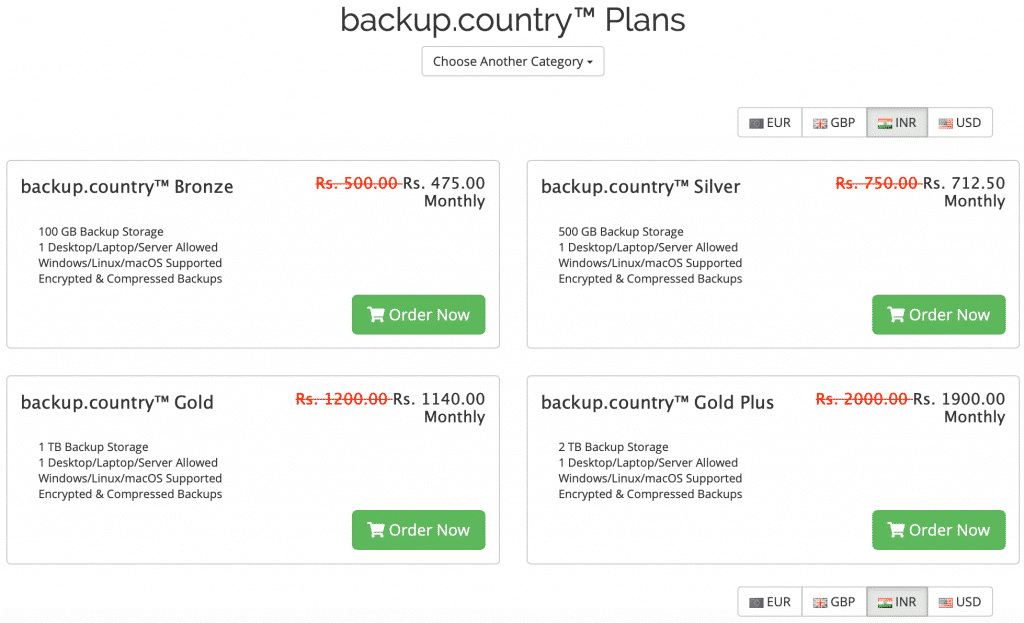 cloud backup service pricing plans by WebJi