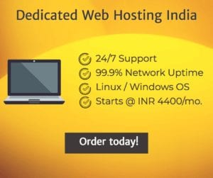 Dedicated Web Hosting India Plans